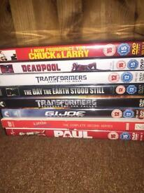 8 dvd's in great condition