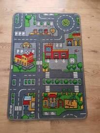Children's Road Map Rug