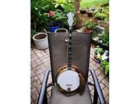 Gibson Golden Deluxe Earl Scruggs 5 String Banjo