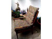 Solid oak fireside chair