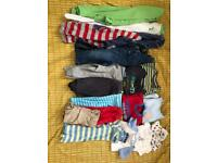 Both bundles for £9. 6-9 month baby boy clothes sleepsuits babygrows trousers T-shirt's dungarees