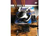 Playstation VR, camera, move controllers and Farpoint game