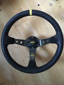 OMP steering wheel and EG BOSS
