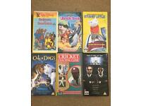 VHS video films tapes / cassettes selection