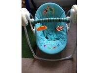 Used baby rocker/swing with music