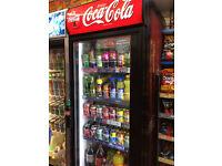 Coca Cola Drinks Fridge - Commercial Newsagent Grocery Shop Single Door Refrigerator