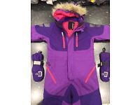 Ski suit age 5 plus gloves