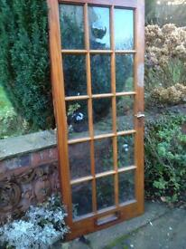 External/Internal Glass Panel Hardwood Door