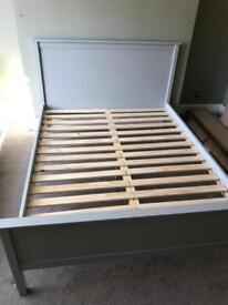 King size bed frame - Dove Grey