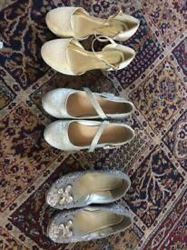 3 x Pairs of Size 1 Girls Shoes