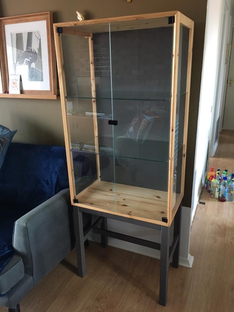 ikea nornÄs glass display cabinet   in chelmsford, essex   gumtree