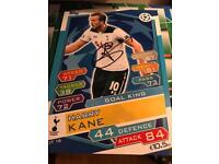 Signed Harry Kane A3 Card