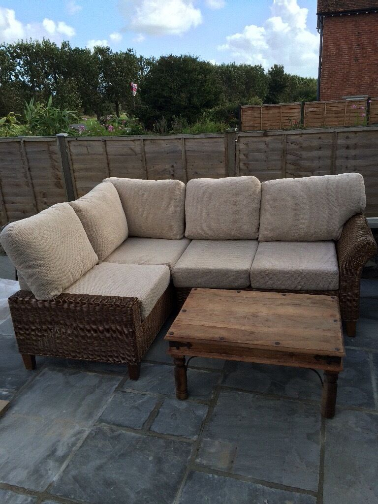 Corner Sofa Rattan Conservatory Furniture In Swanage