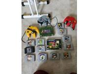 Nintendo 64 + 3 controllers + games