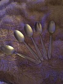 Teaspoons and forks