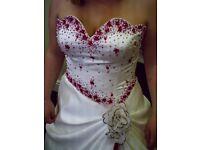 Wedding Dress - worn once 10-14