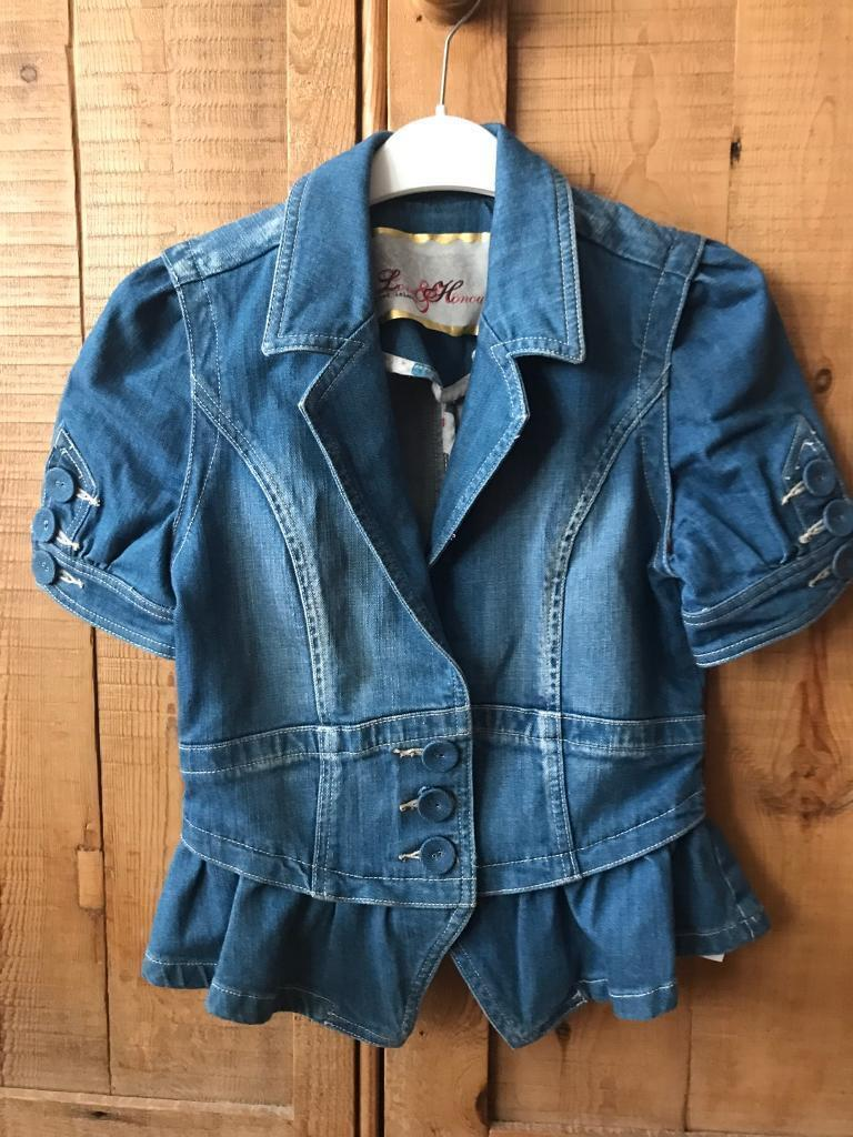 River Island denim top size 10