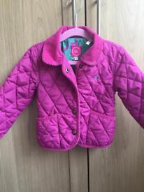 Baby girls Joules quilted jacket coat 12-18 Months