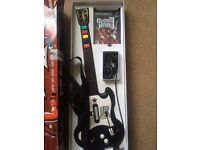 PS2 GUITAR HERO GAME & GUITAR all boxed IDEAL CHRISTMAS GIFT
