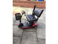 3 wheel mobility scooter in good used condition suitable for the car boot