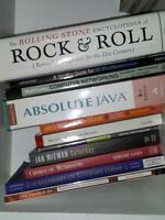 Novels, Travel Guides, Textbooks and Cookbooks