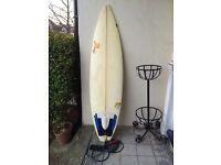 Gareth Gibbins Surfboard & Billabong twin board cover