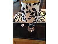Fabulous black &scream cushions with matching table lamp. £12
