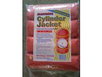 Hot water cylinder insulating jacket