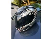 Nitro motorcycle helmet signed
