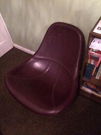 Funky retro purple ikea swivel chair