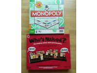 Monopoly & Who's Naked (Guess Who) Board Games
