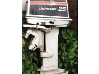 Johnson 25 HP 2 stroke Seahorse Outboard Motor with Tank