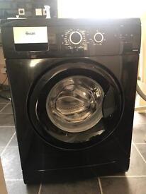 SWAN Black Washing Machine - 1200 Spin