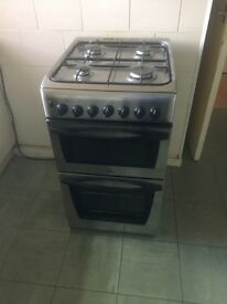 Indesit - Silver free standing gas cooker