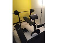 Folding workout weight bench