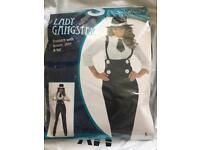 BRAND NEW lady gangster costume (Large)