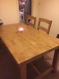 6 Person Oak Dining table