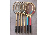 Vintage racquets (will sell separately)