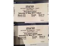 Adam Ant Tour Tickets Leeds first direct arena