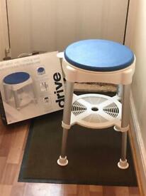Bath Stool height adjustable swivel seat * reduced *