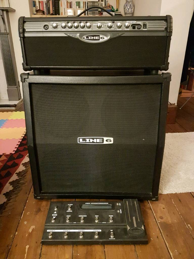 Line 6 Spider II 150w amp head, cabinet and footswitch