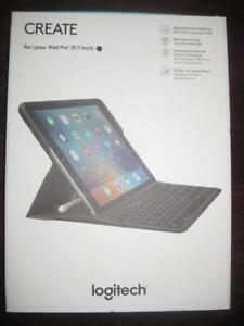 "Logitech CREATE iPad Pro. 9.7"" Keyboard Case / Tablet Cover. Backlit Keys. Smart. Apple Pencil Holder. iOS Shortcut"