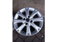 Pair of ford fiesta alloy wheels 16""