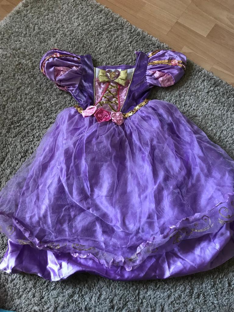 Disney Princess dresses Rapunzel Aurora age 3-4, shoes, bags