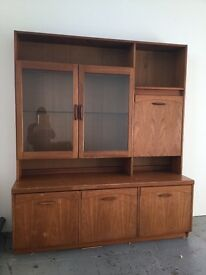Display Cabinet / Sideboard / 1970s / Mid Century Style Teak / Low Price for quick pickup