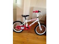 """Halfords Hello Kitty bike (14"""" frame) for sale. Hardly used. £25"""