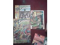 COMICS ALL ARE IN MINT CONDITION THERE N SUPERMAN SPIDERMAN XMEN JUSTICE LEGUE THERE M