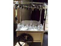 Candy cart for sale with all jars and scoops included business set up
