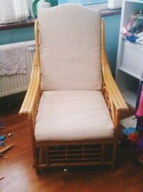 Conservatory Rattan Two seater sofa and 2 Armchairs