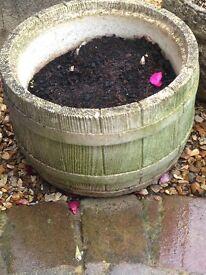 5 garden stone planters